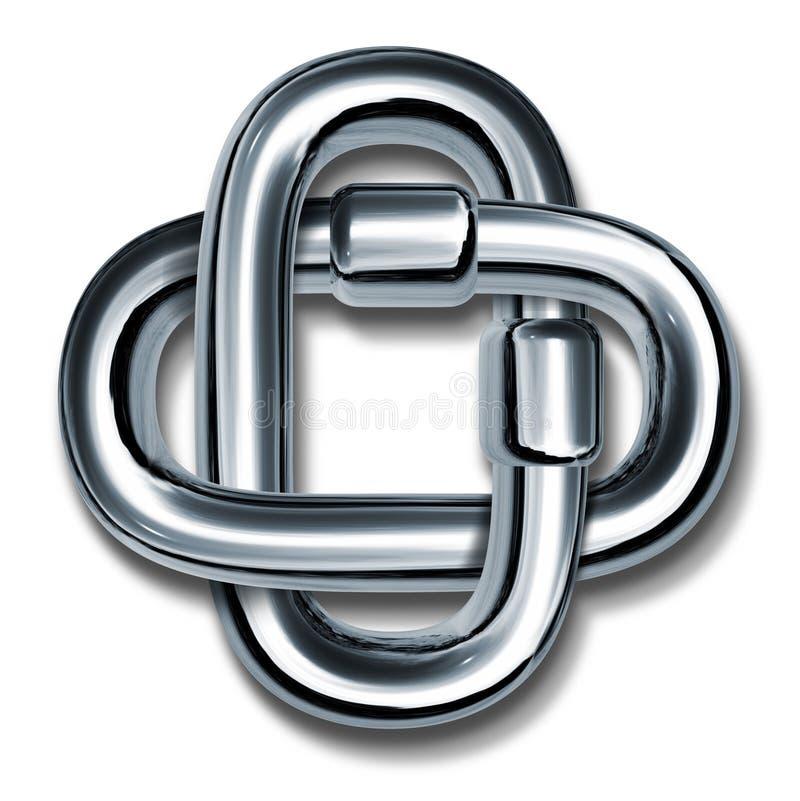 łańcuch łączy siły symbolu jedność ilustracja wektor
