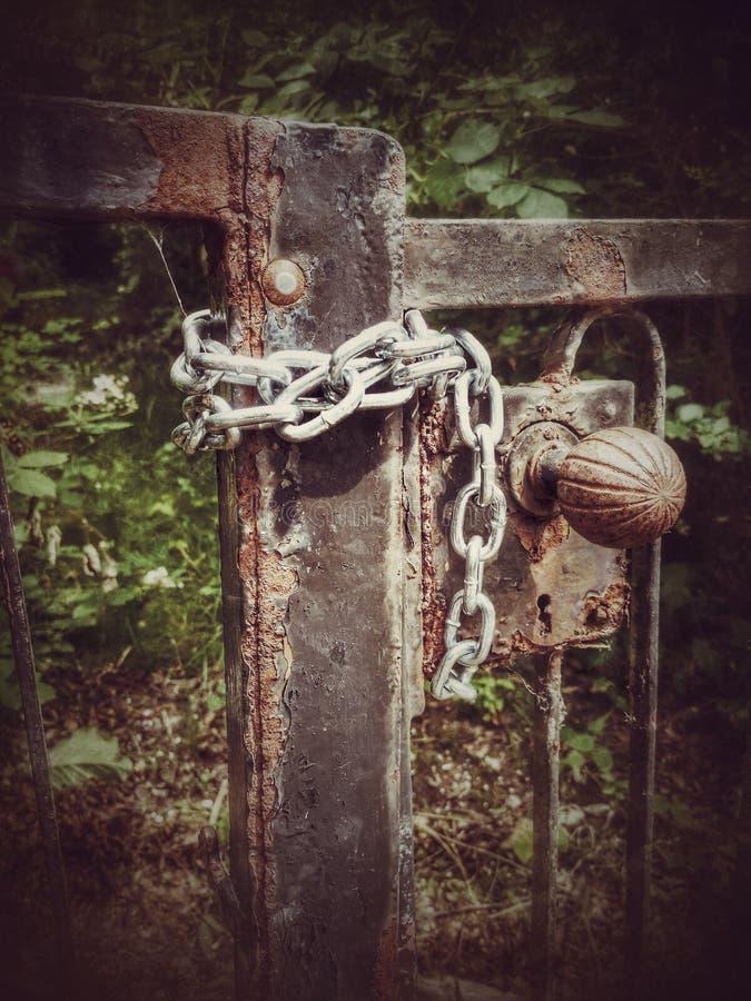 Łańcuch drzwi zdjęcia stock