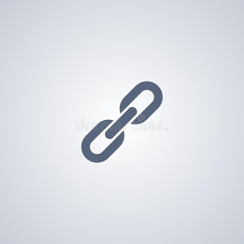 Łańcuch, połączenie, związek, wektorowa najlepszy płaska ikona royalty ilustracja