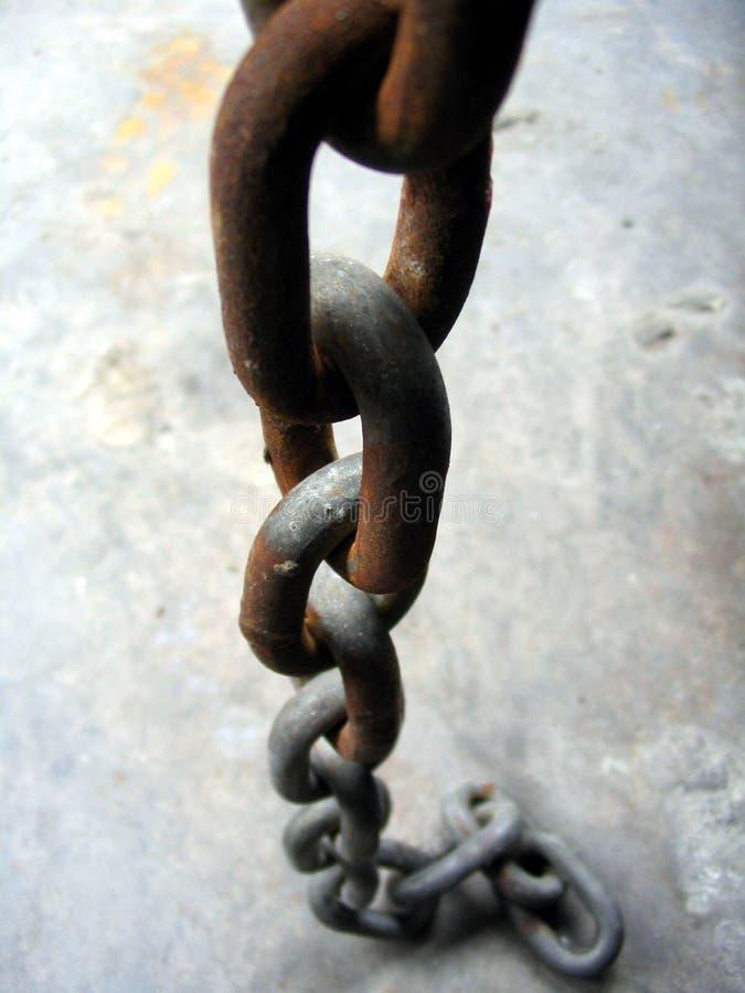 łańcuch rdzewiejący obrazy stock