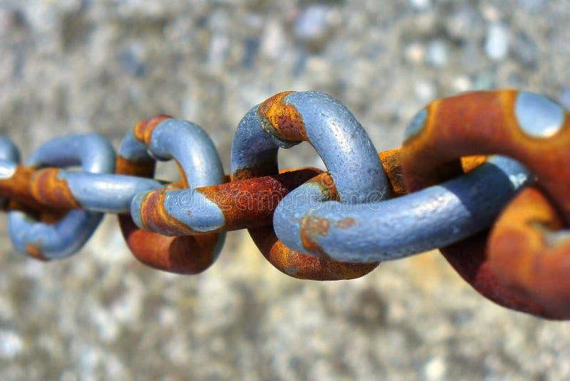 łańcuch rdzewiejący zdjęcie royalty free