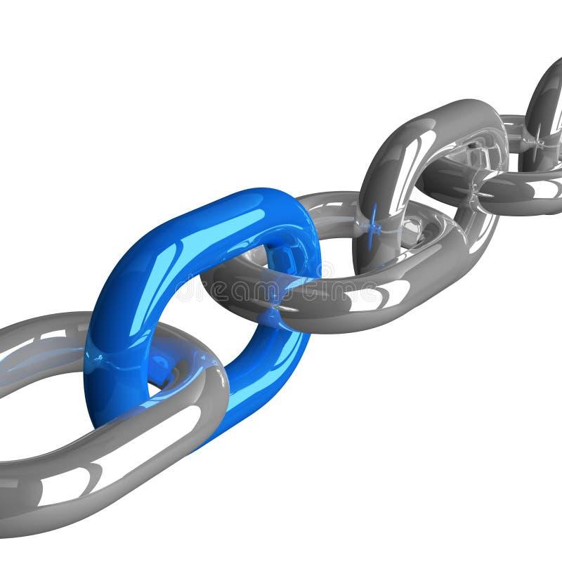 Łańcuch z błękita połączeniem ilustracja wektor