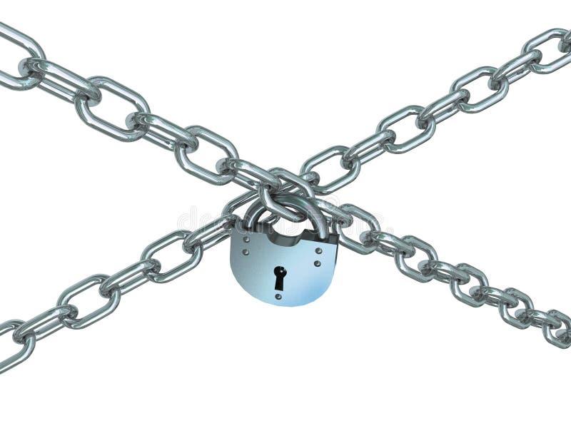 łańcuchy krzyżujący kędziorek royalty ilustracja
