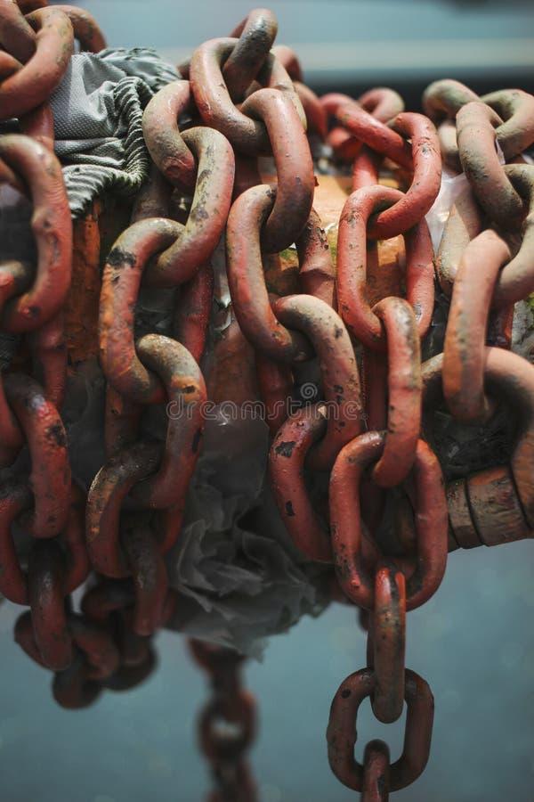 łańcuchy rdzewiejący obraz royalty free