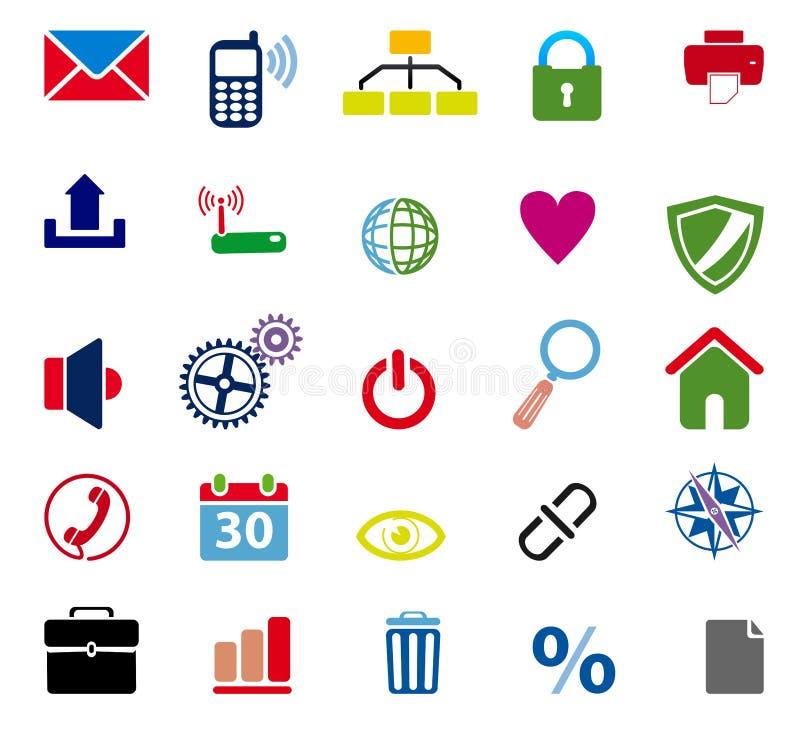 łańcuszkowa ikona kędziorka sieć ilustracji