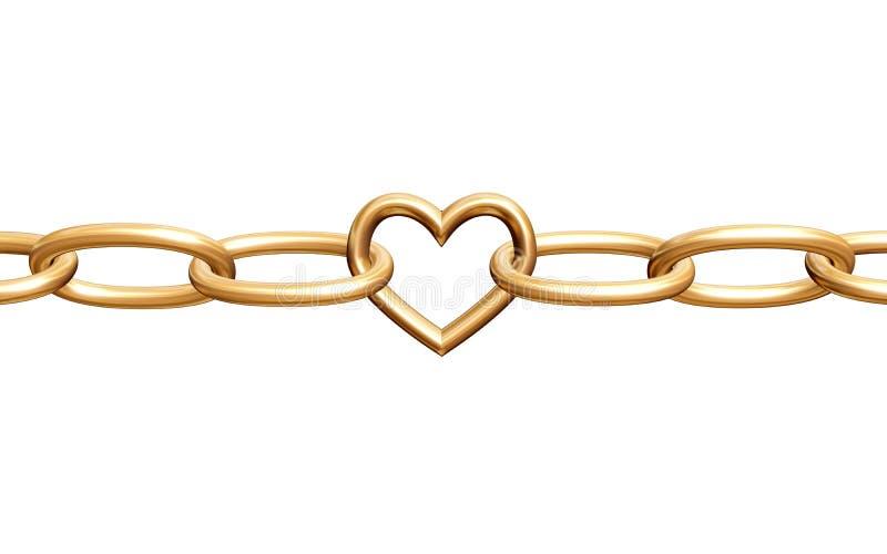 łańcuszkowa miłości ilustracja wektor