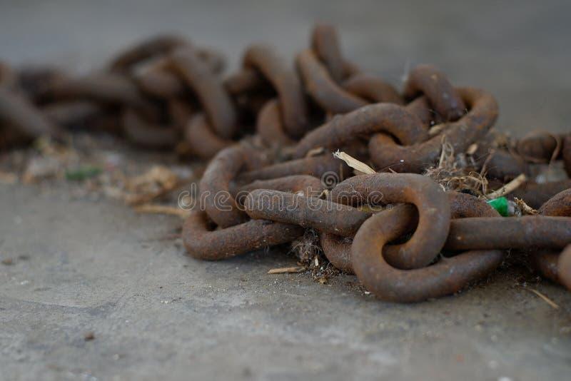 Łańcuszkowa rdza zdjęcia stock