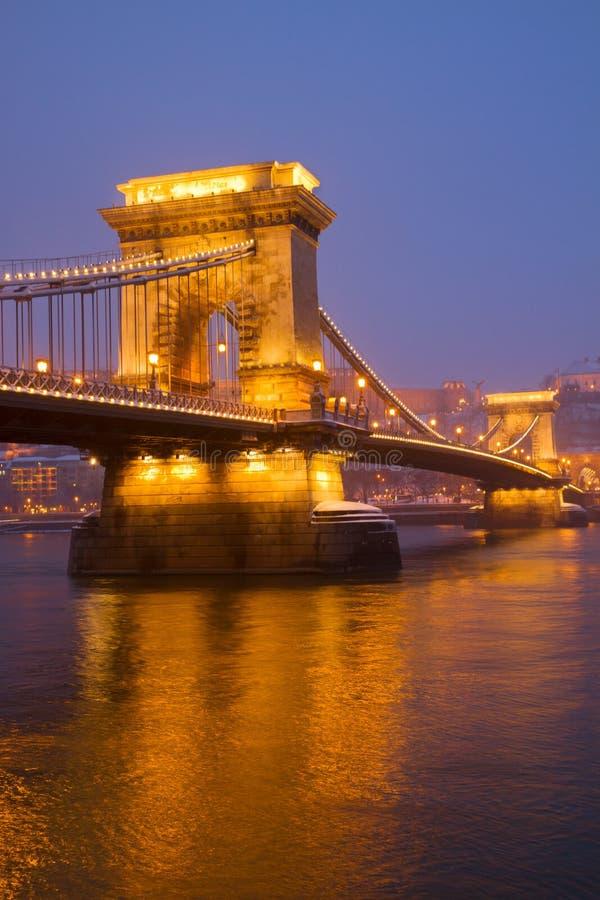 Łańcuszkowy most, Budapest (Szechenyi lanchid) zdjęcia stock