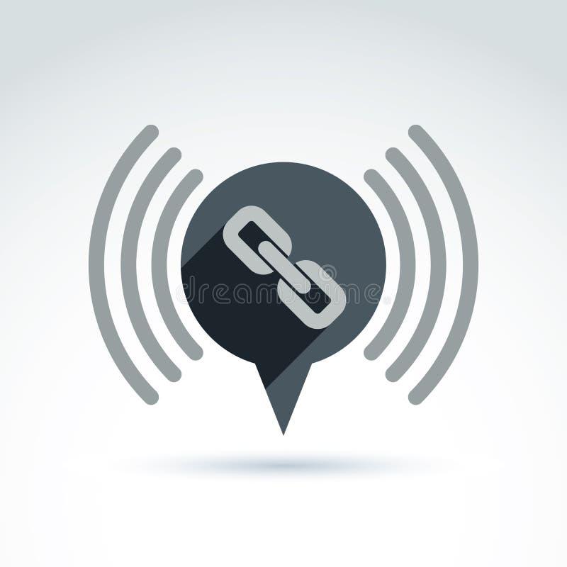 Łańcuszkowego połączenia klasyka ikona ilustracja wektor