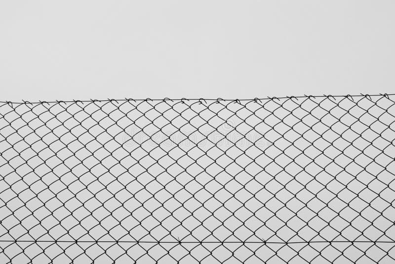 Łańcuszkowego połączenia ogrodzenia druciany siatkarstwo fotografia stock