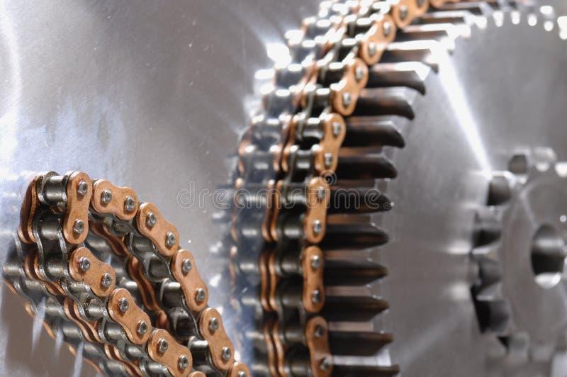 łańcuszkowej maszyny zasilająca zmiany biegów zdjęcie royalty free