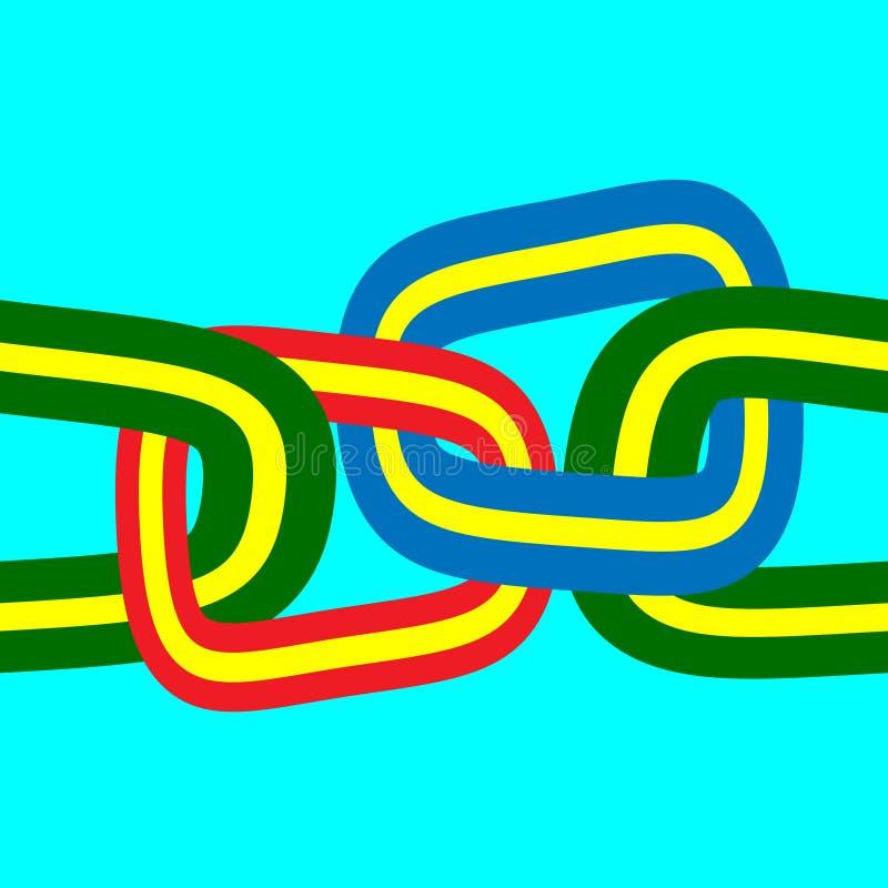 łańcuszkowy bezszwowy ilustracja wektor