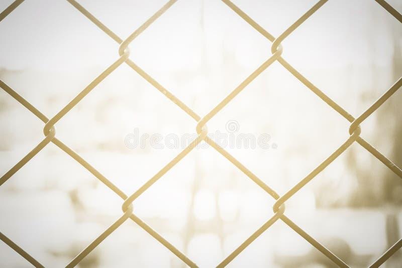 Łańcuszkowy drut ściany połączenie dla ochrony, zdjęcie stock