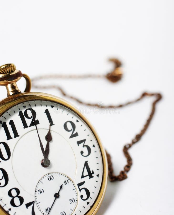 łańcuszkowy kieszonkowy zegarek zdjęcie royalty free