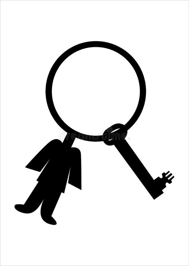 łańcuszkowy Kluczowym Człowiekiem Zdjęcie Stock