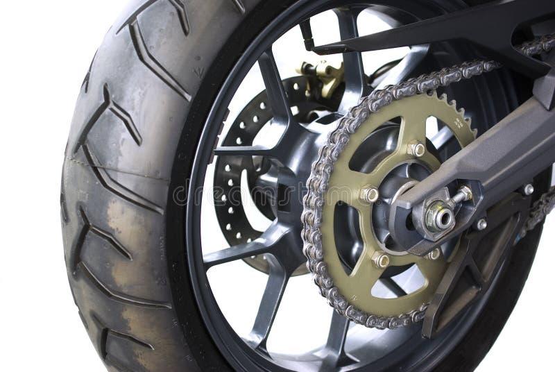 łańcuszkowy motocykl obraz stock