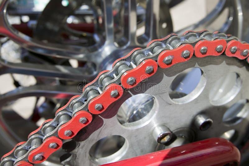łańcuszkowy motocykla obrazy stock
