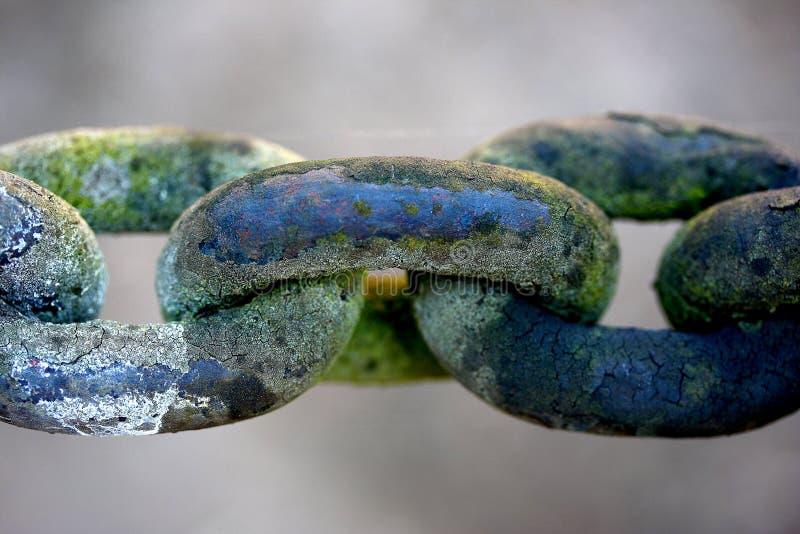 Łańcuszkowy połączenie, rdzewiejący zdjęcie stock