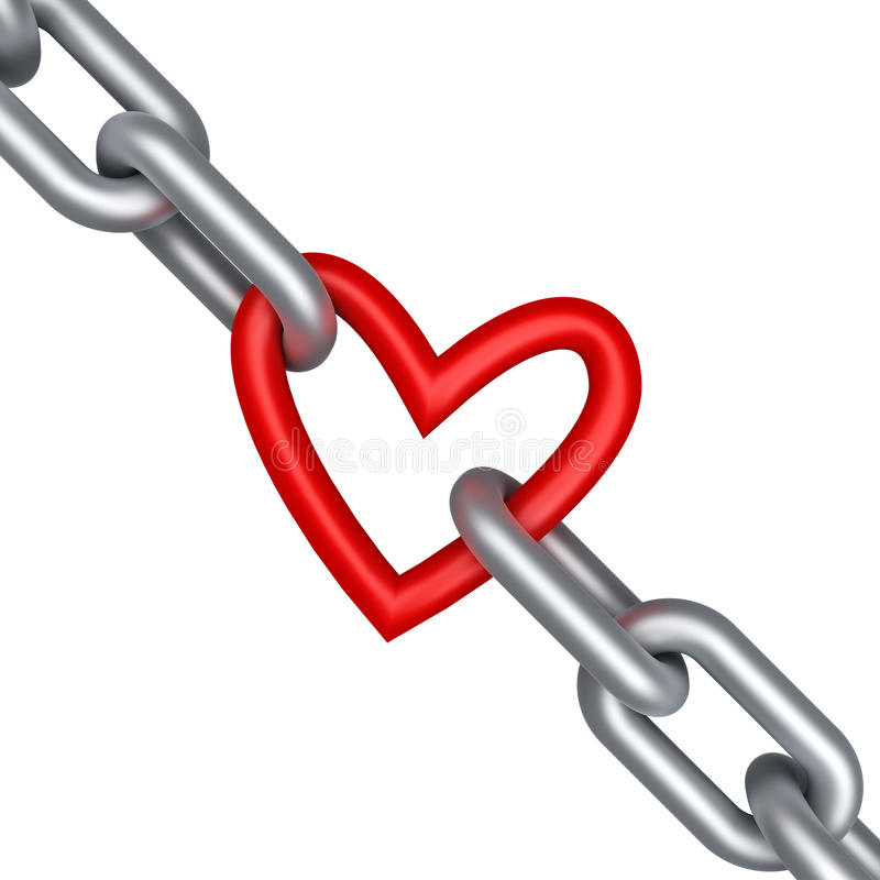 łańcuszkowy serce ilustracja wektor
