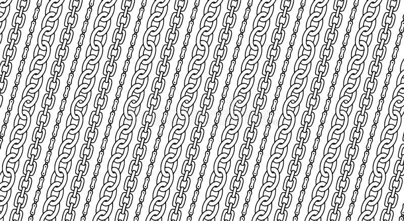 Łańcuszkowy wzór dla dekoracyjnego projekta Dekoracyjny lampasa tło Moda druku ręki rysująca tekstura wektor royalty ilustracja
