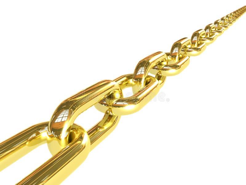 łańcuszkowy złoty ilustracja wektor