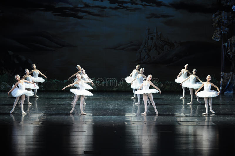 Łabędzi baleta Łabędź jezioro obrazy stock