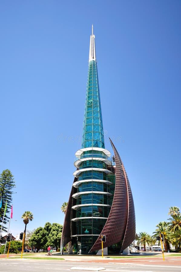 Łabędzi Dzwonów wierza, Perth Australia obraz royalty free