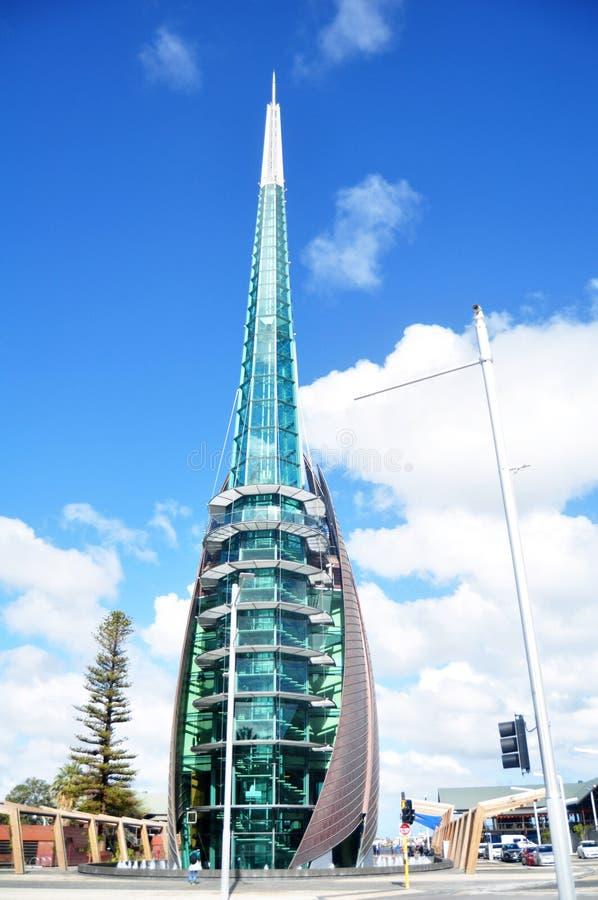 Łabędzi Dzwonów wierza przy koszary kwadratem w Perth, Australia zdjęcie stock