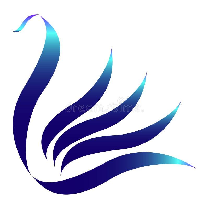 Łabędzi logo royalty ilustracja