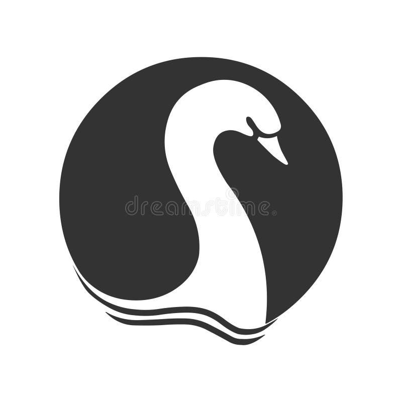 Łabędzi logo ikony wektor Łabędzi logo ilustracji