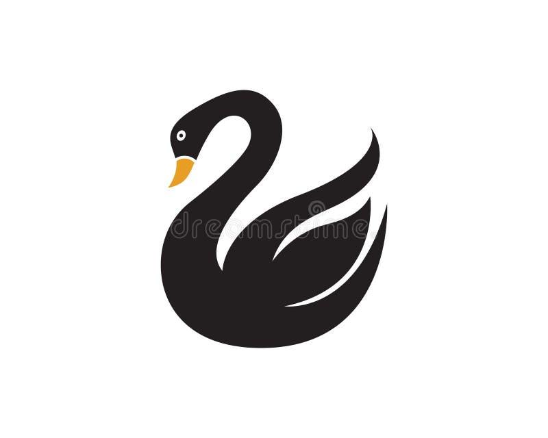 Łabędzi logo szablonu projekt royalty ilustracja