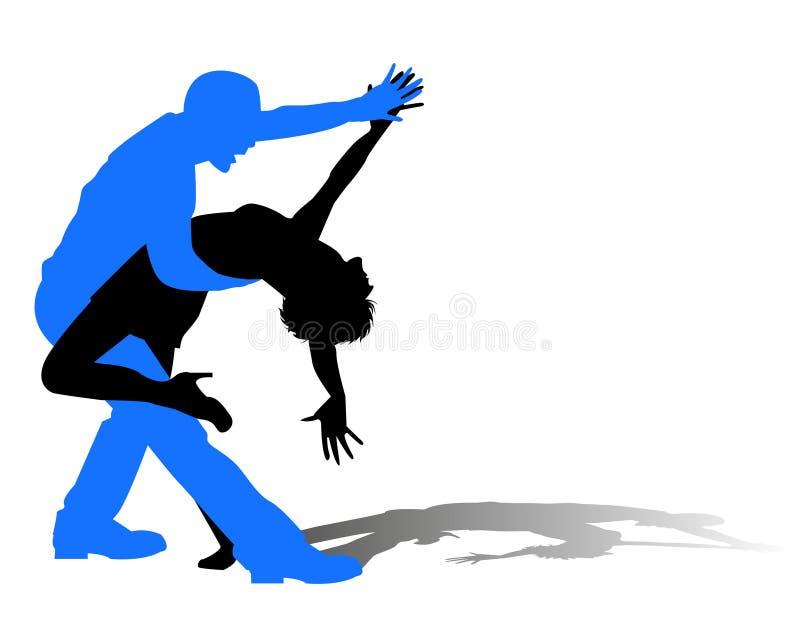Łaciński taniec royalty ilustracja