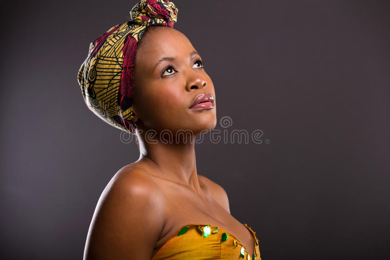 Ładna afrykańska kobieta fotografia stock