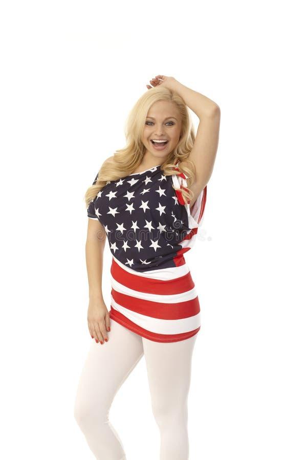 Ładna blondynka amerykanina dziewczyna obrazy stock