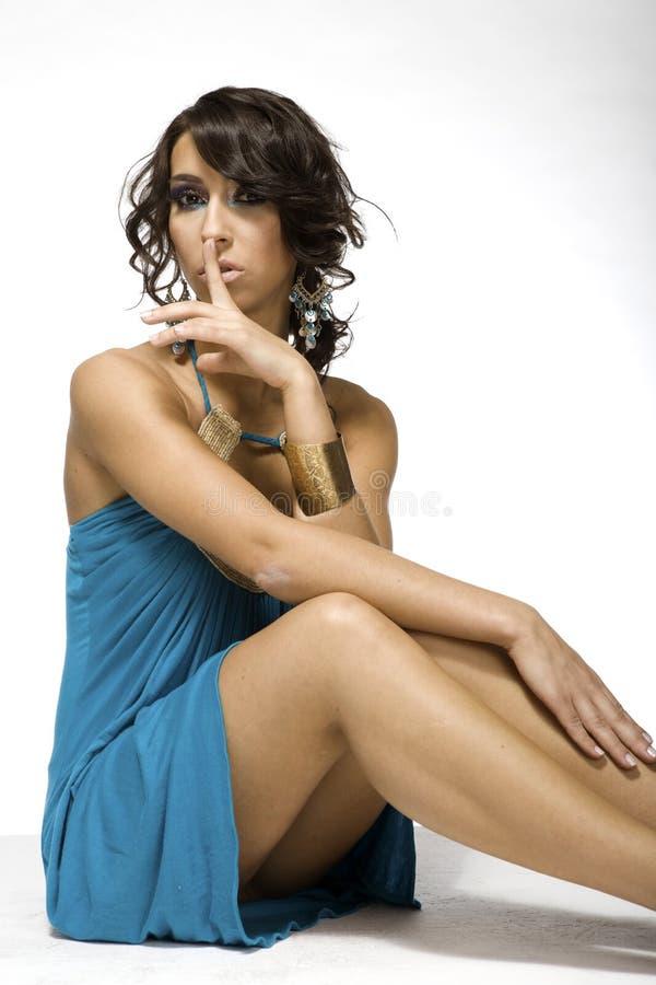 Ładna brunetka fotografia stock