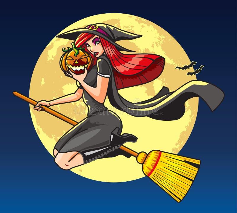 Ładna czarownica zdjęcie stock