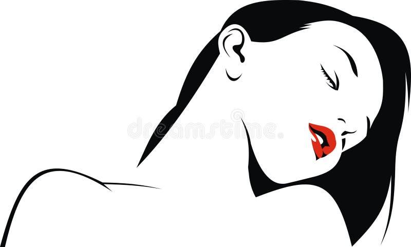 Ładna dziewczyna odizolowywająca ilustracja wektor