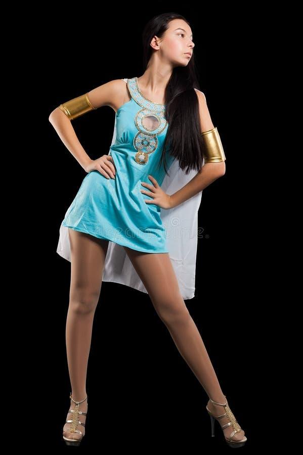 Ładna dziewczyna w Cleopatra rola fotografia royalty free