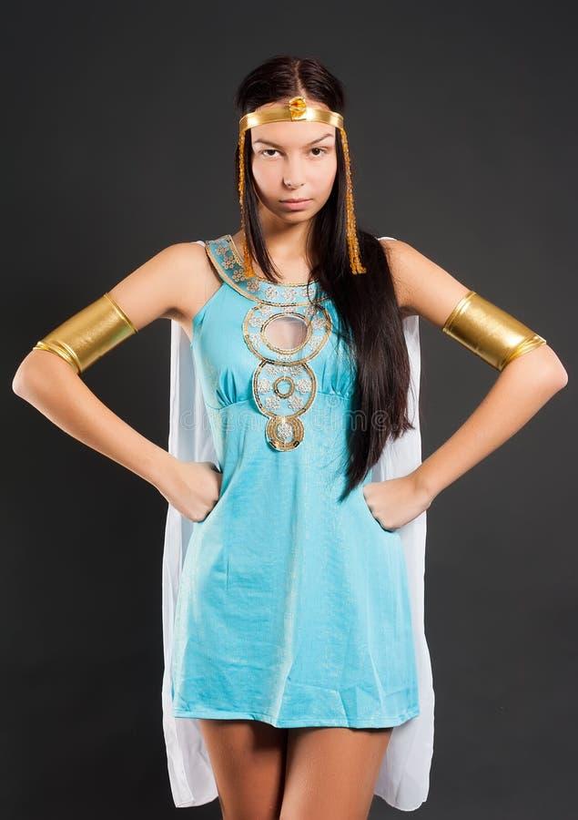 Ładna dziewczyna w Cleopatra rola obrazy stock