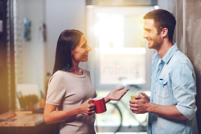 Ładna kawowa przerwa zdjęcia royalty free