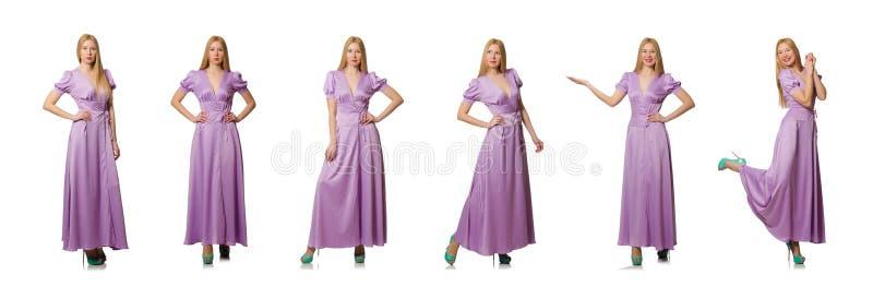Ładna kobieta w mody odzieży - złożony wizerunek obrazy stock