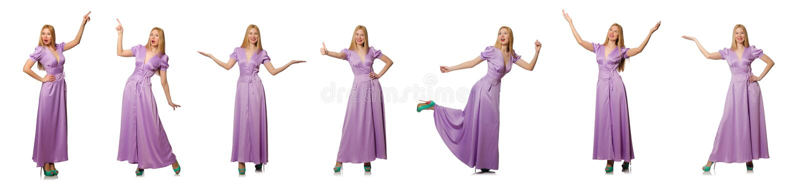 Ładna kobieta w mody odzieży - złożony wizerunek obraz royalty free