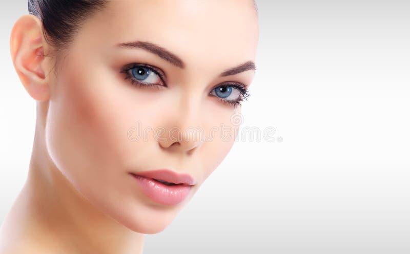 Ładna kobiety ` s twarz zdjęcie stock