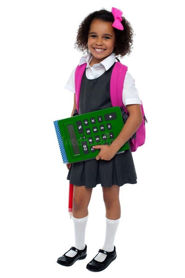 Ładna lala przygotowywa dla szkoły zdjęcie royalty free