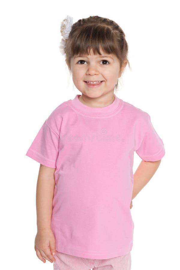 Download Ładna Mała Dziewczynka W Różowej Bluzce Zdjęcie Stock - Obraz złożonej z dziewczyna, menchie: 41951570