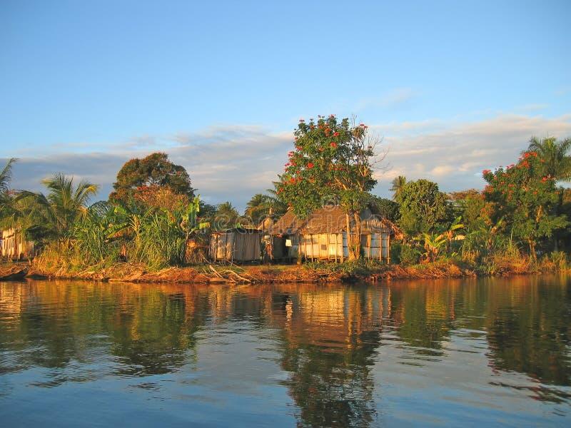 ładna mała wioska rybaków zdjęcie royalty free
