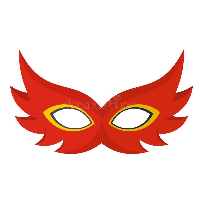 Ładna maskowa ikona, mieszkanie styl ilustracja wektor