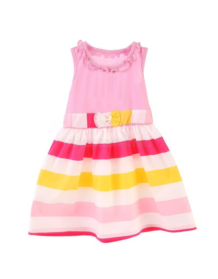 Ładna menchii suknia dla dziewczyn. zdjęcia royalty free