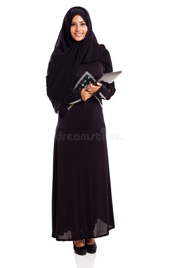 Muzułmańska kobiety pastylka fotografia stock