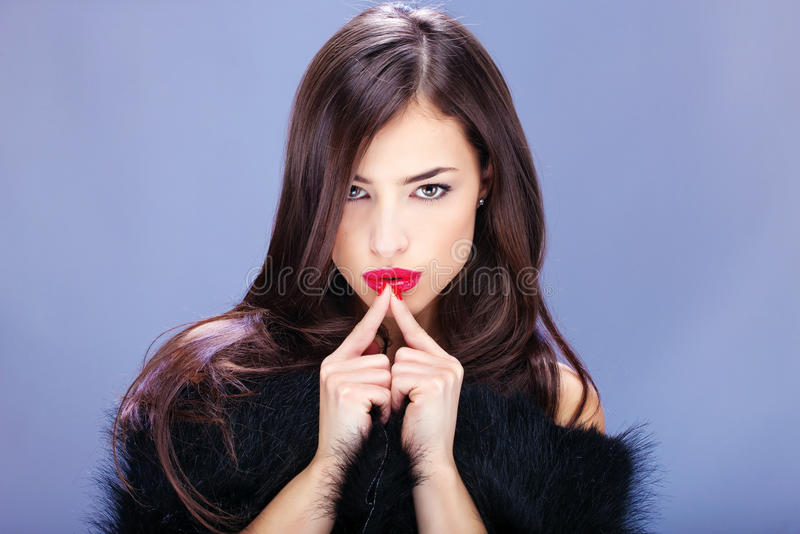 ładna pelt kobieta fotografia stock